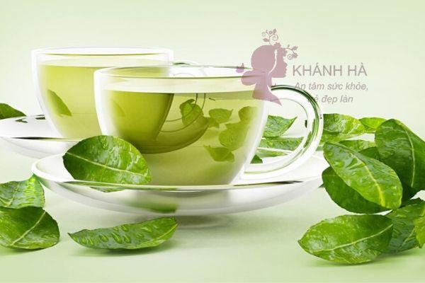 Trị mụn nội tiết tố với trà xanh
