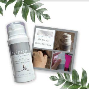 sữa rửa mặt trị mụn dành cho da nhạy cảm skinicer