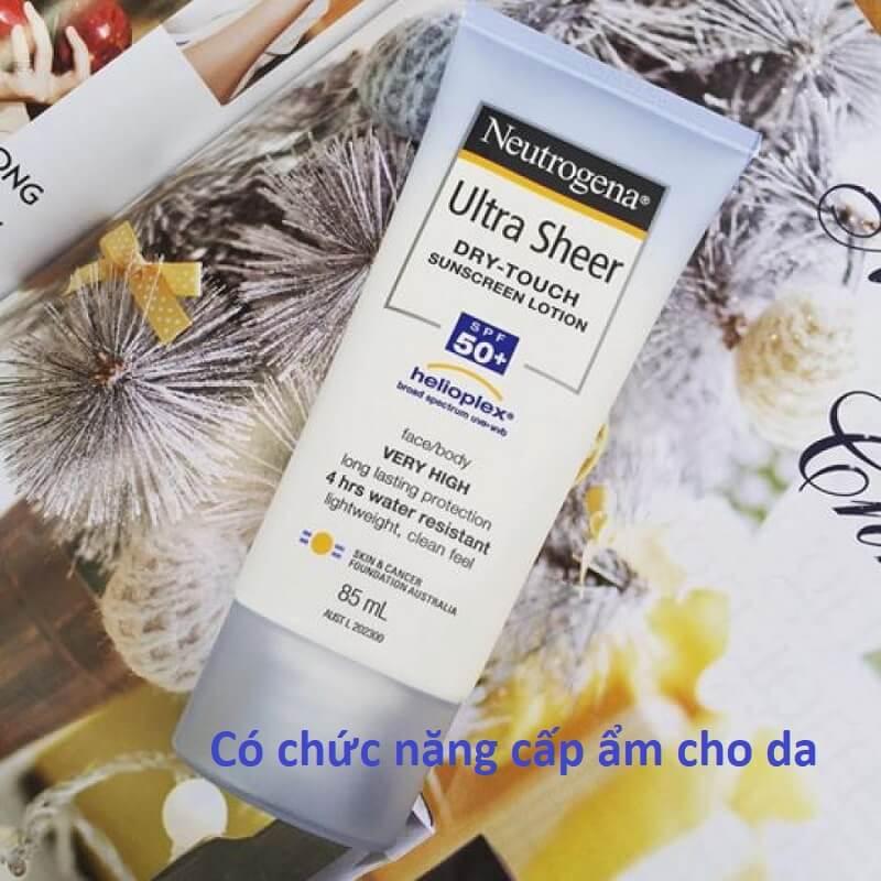 [REVIEW] Neutrogena Kem Chống Nắng Ultra Sheer Dry-touch Sunscreen Lotion SPF 50+ 85ML Có Tốt Không?